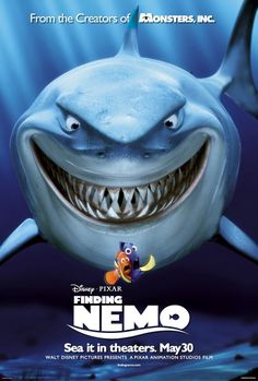 Finding Nemo (2003) movie poster @Nobeltec - Check out our online store www.nobeltec.com/store #sea #ocean #movie
