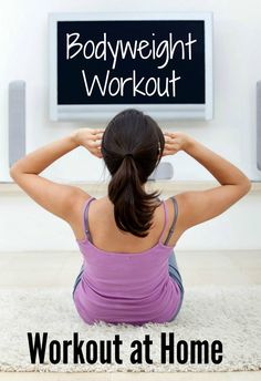 Beginner Bodyweight Home Workout- Workout at home, no equipment needed!