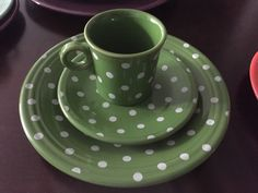 Rare Fiesta® Shamrock Polka Dots! Homer Laughlin China | eBay