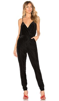 802ce4ffca3 About Us Tula Velvet Jumpsuit in Black from Revolve.com
