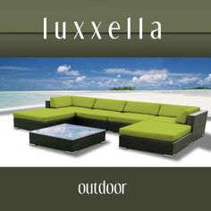 Luxxella Outdoor Patio Wicker MALLINA Sofa Sectional Furniture 7pc All Weather Couch Set PERIDOT by Luxxella, http://www.amazon.com/dp/B009GUXE1W/ref=cm_sw_r_pi_dp_S51trb0FK3Q5T