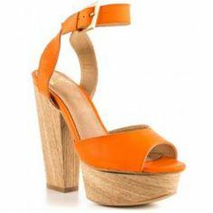 Access to a stylish selection of Women's heels, shoes, sandals and boots Orange Heels, Orange Wedges, Ankle Strap Sandals, Shoes Sandals, Heeled Sandals, Shoe Boots, Shoe Bag, Platform Pumps, Block Heels