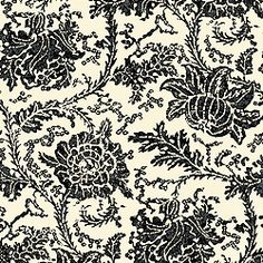 Mizoram #wallpaper and matching #fabric in #black from the Cypress collection. #Thibaut