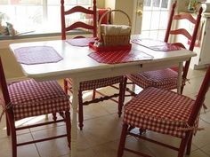 See Iu0027m Not Crazy Wanting Red Ladder Chairs With A White Table. Kitchen ...