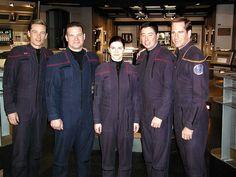 Star Trek Stuff Three sailors from the USS Enterprise CV-65 made cameos as officers aboard the Starship Enterprise NX-01 in Desert Crossing.