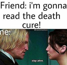 The feels from the death cure...Great, We are all bloody inspired-Newt