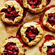 Mini Rhubarb Ginger Crostatas - Favorite Rhubarb Recipes - Sunset