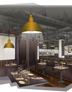 Design LSM takes on cosy and classic brief for latest Goodman Restaurants London eatery Interior Design Sketches, Interior Rendering, Interior Architecture, Architecture Sketches, 3d Rendering, Interior Design Presentation, Luminaire Design, London Restaurants, Layout