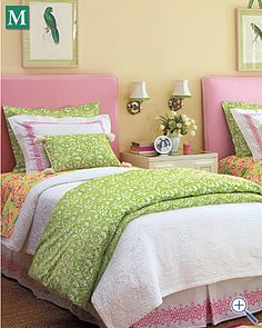 Lilly Pulitzer bloom percale. Luv for a girls room!!!