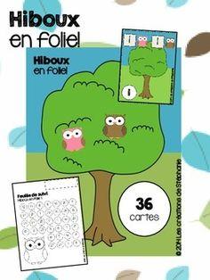 Hiboux en folie : Un jeu de dénombrement pour les élèves du préscolaire (maternelle)