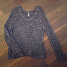 Free People Gray Cozy Sweater, Size Medium Free People Gray Cozy Sweater, Size Medium. Great condition! Free People Tops Blouses