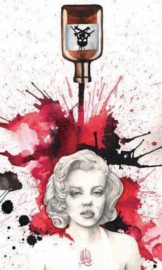 Poisoned Marilyn Art Print by Artist Christina Ramos. Poisoned Marilyn art print by artist Christina Ramos. Made by Black Market Art Company. All art prints are printed on heavy weight, semi gloss cover stock. Art print size x cm x cm). Artwork Prints, Canvas Art Prints, Framed Artwork, Fine Art Prints, Framed Wall, Wall Art, Marilyn Monroe, Christina Ramos, Death Tattoo