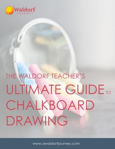 Waldorf chalkboard drawing guide available now for free at A Waldorf Journey. Waldorf teacher website.