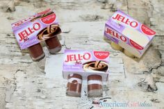 DIY American Girl Doll Jello Pudding Craft My girls really wanted the dolls to have pudding so, pudding they will have! The container isn't the exact shape as the real pudding cups, but it's close enough. Snack Pack pudding cups are more square and Jell-O pudding cups are more round. So we went with Jell-O. …