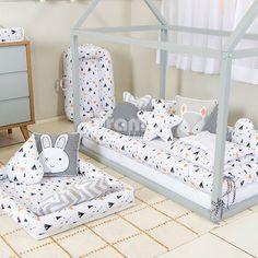 Kit Montessoriano Mini Cama Rolinho 4 Peças Fox Preto (Colchão 1,50 x 0,70) Baby Bedroom, Baby Boy Rooms, Baby Room Decor, Baby Playroom, Baby Swings, Baby Supplies, Baby Education, Baby Pillows, Baby Family