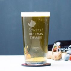 Engraved Pint Glass - Cheers