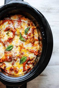 Slow Cooker Eggplant Lasagna is a perfect meal that uses seasonal ingredients; requires minimal preparation & it's done entirely in a slow cooker.