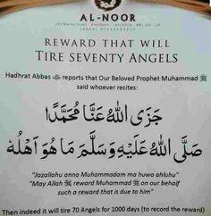 Dua to get reward that tires 70 angels Doa Islam, Islam Hadith, Allah Islam, Islam Muslim, Islam Quran, Alhamdulillah, Islamic Prayer, Islamic Teachings, Islamic Dua
