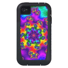 Customizable Tye-Dye Floral Sprinkles Tough Extreme iPhone 4 Case on sale at www.zazzle.com/wonderart* or click on the picture to take you directly to the product.