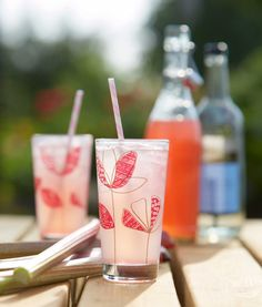 Rhubarb  Vanilla Pod Cordial mixed with Celtic Vale Natural Mineral Water