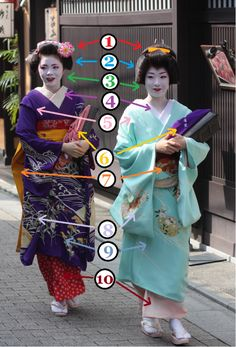 "The different parts of the maiko and geiko ""look."" Almost all of the terms used on this page can also be found in the Karyukai Glossary. All non-pictures are used with permission of the original..."