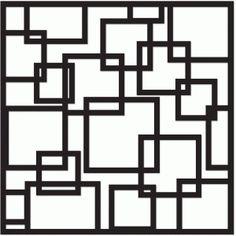 Silhouette Design Store - View Design #41186: squares screen 12x12