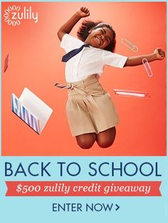 Win $500 in zulily's Back To School Giveaway Ends 8/11