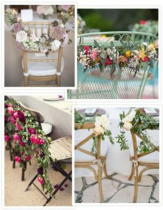 Wedding Chair Decor - Floral Swags