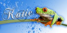 TREE-FROG-LICENSE-PLATE-personalized-Made-in-USA