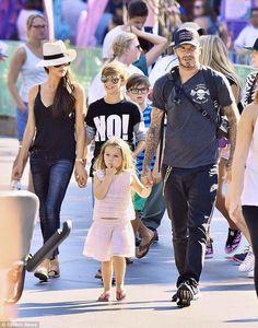 Beckham Family in Disneyland
