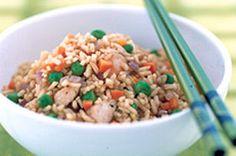 Riz frit à la chinoise -----------------------------Plus rapide que les mets à emporter : du début de la recette à l'assiette en 30 minutes !