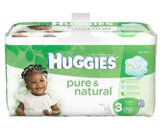 Huggies Pure & Natural Diapers, Size 3, 140-Count - http://www.intomars.com/huggies-pure-and-natural-diapers-size-3.html