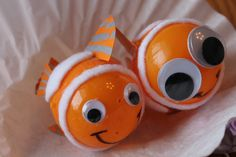 clown fish craft made from plastic Easter eggs that I made with my Granddaughter