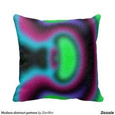 Modern abstract pattern throw pillows