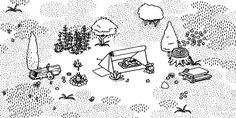 """HIDDEN FOLKS """"Recherchez des personnes cachées dans des paysages miniatures dessinés à la main, interactifs. Ouvrer les tentes, couper les buissons, fermer les portes et pousser les crocodiles! Rooooaaaarrrr !!!!!"""""""