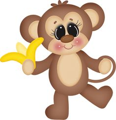 . Cute Animal Clipart, Cute Clipart, Animals Images, Cute Animals, Art For Kids, Crafts For Kids, Cartoon Monkey, Dibujos Cute, Pet Rocks