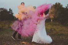 holi farben trash the dress shooting dresden - hochzeitsfotografie