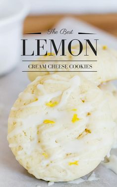 The Best Lemon Cookie made with cream cheese so it's so soft with great lemon flavor. Lemon Cream Cheese Cookies are the best lemon cookie! They are soft and moist with a great light lemon flavor, perfect for summertime! Cream Cheese Cookie Recipe, Cream Cheese Desserts, Chip Cookie Recipe, Cookie Recipes, Dessert Recipes, Cookie Ideas, Cookies With Cream Cheese, Brownie Recipes, Chocolate Marshmallow Cookies