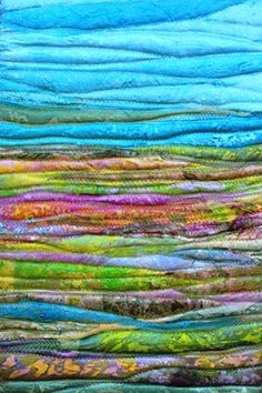 Summer Landscape by Judith Reece. Textile on canvas.