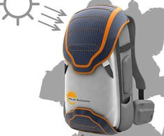Solar Rucksack - Outer surface of the Solar Rucksack features solar panels that collect solar energy from the sun and converts it into heat energy.