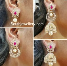 Multi Use 4 in 1 Diamond Earrings photo