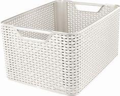 Curver 30 Large Litre Plastic Style Box, White
