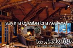 stay in a log cabin