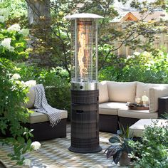 Red Ember Wicker Patio Heater From Hayneedle