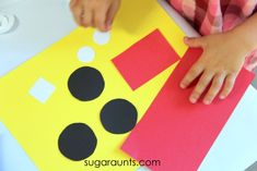 This fire truck craft was a given after we made our easy shapes school bus craft . We love looking for trucks when we are out and about (...