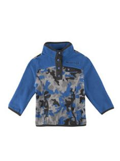 Free Country Boys Size 2T Microtech Fleece Pullover, Electric Blue