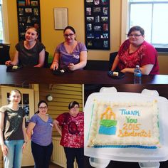 Many thanks to Caitlan, Karen and Carrie for their awesome work this summer! Best of luck with your studies! #Oshawa #museum #students #cake