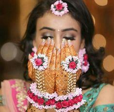 Handmade Gotta Patti Pink & Red Floral Haldi Mehandi Wedding Bridal Necklace Earrings Maang Tika Bracelets Attached Ring 6 PC's Jewelry Set - Modern Dainty Jewelry, Jewelry Sets, Beaded Jewelry, Handmade Jewelry, Jewelry Model, Jewelry Stand, Resin Jewelry, Statement Jewelry, Crystal Jewelry