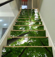 Funky home decor design - A marvelously crazy collection on decor styling help. Decor examples sectioned in category funky home decor ideas, pinned on 20190227 unit %%RAND% Container Home Designs, Painted Staircases, Painted Stairs, Floor Wallpaper, Home Wallpaper, Wallpaper Ideas, Vinyl Wallpaper, Stairway Art, Decoration Photo