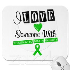 I Love Someone With Traumatic Brain Injury Mouse Pad from Zazzle.com